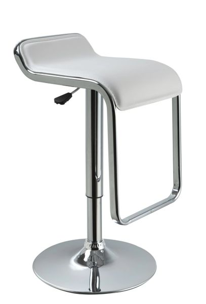 MBTC Airtel Kitchen Cafeteria Bar Stool Chair in White