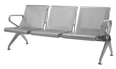 Three Seater Airport Sofa (Powder Coated)