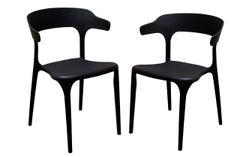 MBTC Kyro Cafeteria Chair (Black) (Set of 2 Pcs)