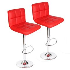 Cadbury Bar Stool in Red Color ( set of 2 pc )