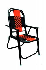 MBTC Familo Stripe Folding Chair in Black