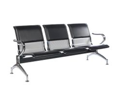 MBTC Three seater Visitor Waiting Chair with Cushion