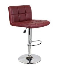 MBTC Cadbury Kitchen Cafeteria Bar Stool Chair in Maroon