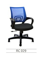 MBTC Flora Office Chair in Blue Mesh Net
