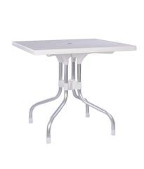 Supreme Olive Foldable Dining Table - Milky White