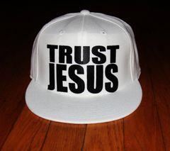 snap back - Trust Jesus - White
