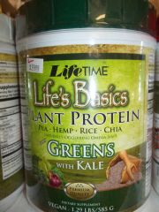 Life time Life's Basics plant protein mix greens w/kale vegan