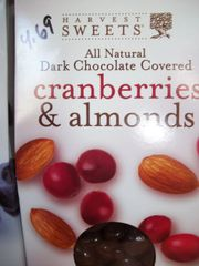 Harvest Sweet Dark Chocolate covered Cranberries & almonds 4.5 oz