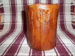 Candle burnt pillar timer battery operated