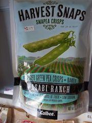 Snapea crisps Flavored green pea crisps baked wasabi ranch 3.3 oz
