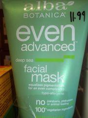Alba Botanica® Even Advanced Deep Sea Facial Mask -- 4 fl oz