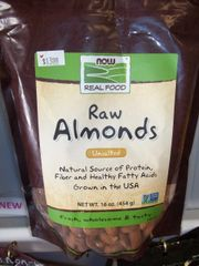 Now Raw Almonds unsalted 16oz
