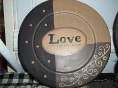Love with all your heart plate