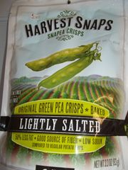 Snapea crisps Flavored green pea crisps baked lightly salted 3.3 oz