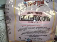 Bob's Red Mill unsweetened coconut flakes 12 oz