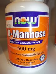 NOW D-Mannose -- 500 mg - 120 Veg Capsules