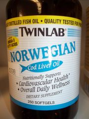 Twinlab Emulsified Norwegian Cod Liver Oil -- 250 Softgels