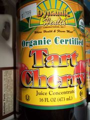 Dynamic Health Organic Tart Cherry Juice concentrate 16 fl oz