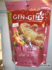 Gin Gin chewy ginger candy spicy apple 3 oz