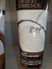 Desert Essence Organics Hand and Body Lotion Coconut -- 8 fl oz