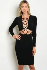 Rebel Lace Up Dress