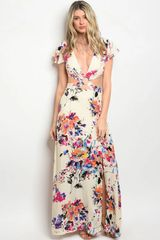 Abstract Tropic Floral Maxi