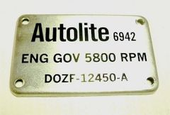 Autolite 5800 RPM Rev Limiter Cover 1970 Boss 429 Mustang & 428 Cobra Jet