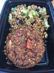 Red Bean Burger - 4 Pack (Cold salad shown NOT included)