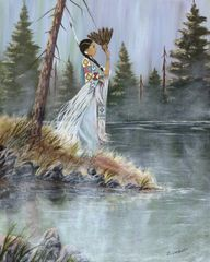 Maiden In The Mist, Signed and Matted Art Prints or as Greeting Card