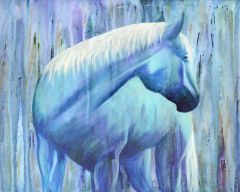 Ghost Horse, Signed and Matted Art Prints or as Greeting Card