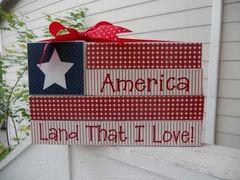 AMERICA - Land That I Love blocks - VINYL only