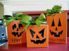 Pumpkin Trio Blocks - VINYL only