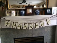 Thankful Banner - VINYL Only