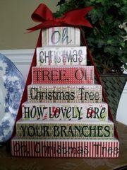 Oh Christmas Tree blocks - VINYL only
