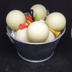 Bucket of Golf Ball Soaps
