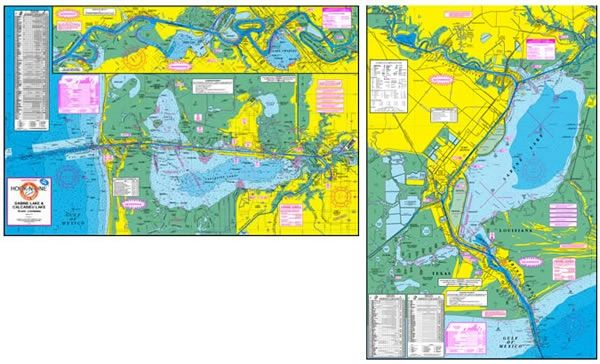 F118 Sabine Lake & Calcasieu Lake Map | Hook-N-line maps on