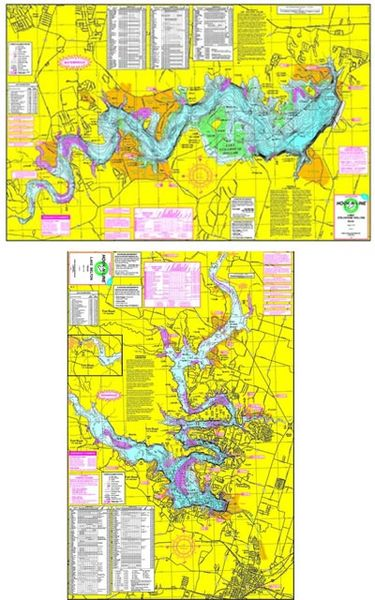 F140 Lake Belton & Lake Stillhouse Hollow Map | Hook-N-line ... Gps Lake Maps on