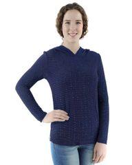Long Sleeve Rhinestone Pullover w/hood