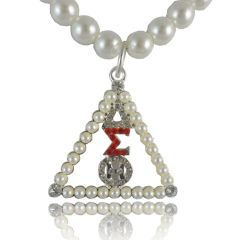 DST Pearl Necklace w/Matching Brooch