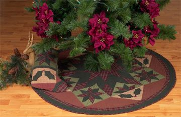 45 twinkle starholly plaid christmas tree skirt tea dyed