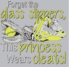 Softball Forget Glass Slipper Hoodie