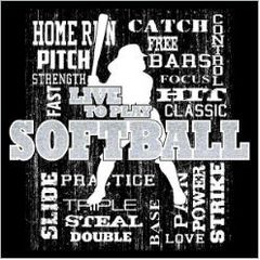 SB Words Softball White