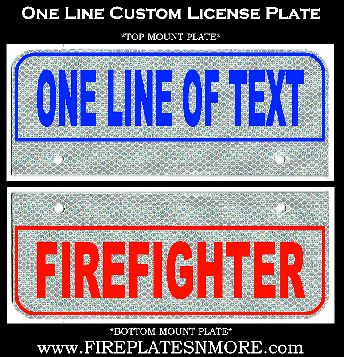 One Line Custom License Plate | Fire Plates N\' More