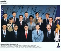 Space Shuttle Astronaut Candidate Litho - Class 12 (fully autographed) Contact for Price