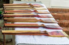"BOGO Sale!! Handmade ""Rainbow"" Spatulas Made from local hardwoods (Buy One Rainbow Spatula and Get One Free!)"