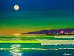 Venice Beach Moonlight | 24 x 32 | Canvas Print