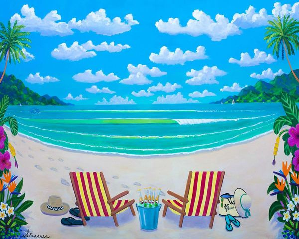 Tropics for Two   12 x 16   Canvas Print