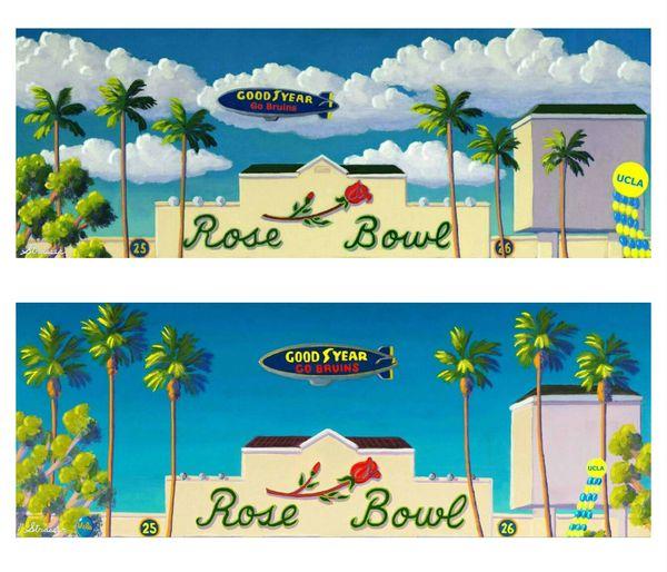 """A Set of 2 Hand-Signed Rose Bowl Prints"" - 12 x 36"
