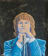 Jim Morrison   14 x 18   Acrylic on Paper.