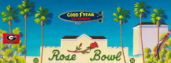 Go Dawgs - 2018 Rose Bowl - 12 x 36 Canvas Print